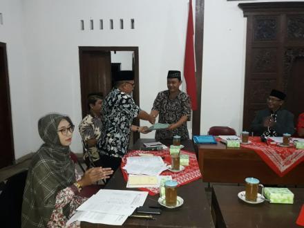 Pembentukan Panitia Pemilihan Lurah Desa Tahun 2018