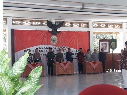 Deklarasi Damai Pemilihan Lurah Desa Serentak di Kabupaten Bantul