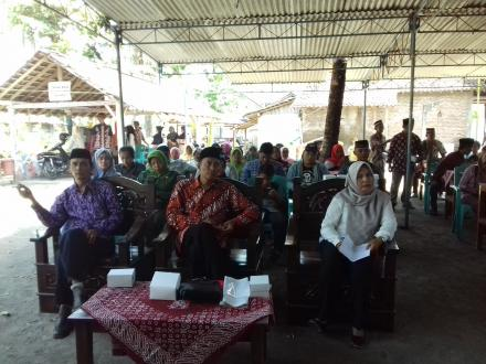 Kampanye Calon Lurah Desa Ringinharjo di Gemahan