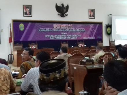 Workshop tentang Pemilihan,Pengangkatan dan Pemberhentian Lurah