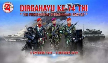 Hari Ulang Tahun TNI Ke 74